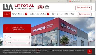Site internet de Littoral Vendee Automobiles