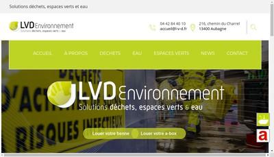 Site internet de Lvd Environnement