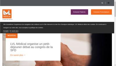 Site internet de Lvl Medical Groupe