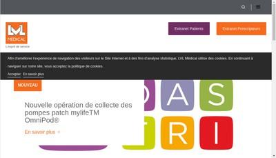 Site internet de Lvl Medical Est