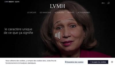 Site internet de Lvmh Services