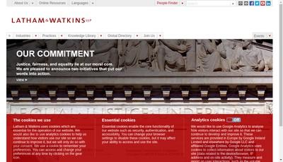 Site internet de Latham & Watkins