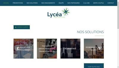 Site internet de Lycea Risks Solutions