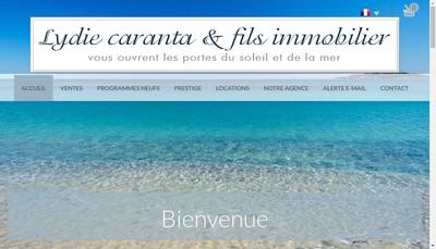 Site internet de Lydie Caranta et Fils Immobilier