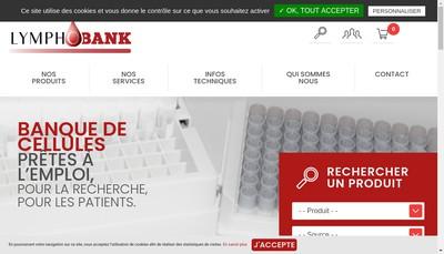 Site internet de Lymphobank