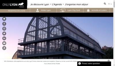 Site internet de Off Tourisme-Bureau Congres Grand Lyon