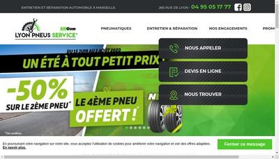 Site internet de Lyon Pneus Service