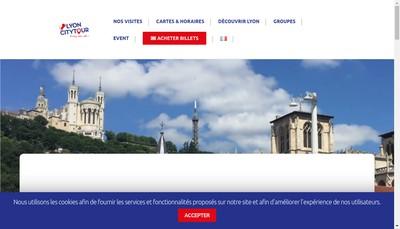 Site internet de Lyon City Tour, Lyon City Bus, Lyon City Tram