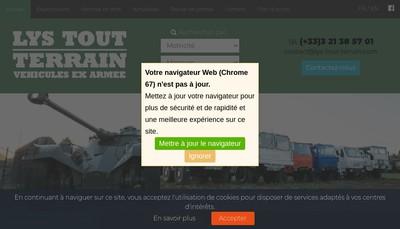 Site internet de Lys Tout Terrain
