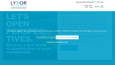 Site internet de Lyxor Asset Management