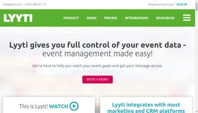 Site internet de Lyyti