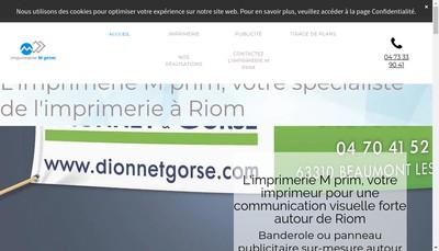 Site internet de M Prim