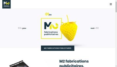 Site internet de M2 Fabrications Publicitaires