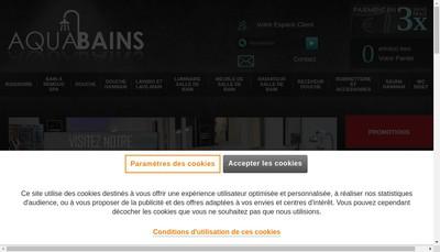 Site internet de Aquabains