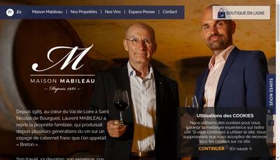 Site internet de Chateau le Moulin Neuf