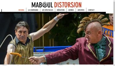 Site internet de Compagnie Maboul Distorsion