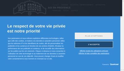 Site internet de Mac Gregor