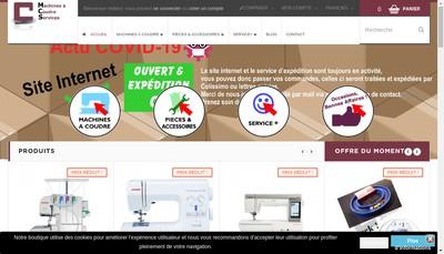 Site internet de Machines a Coudre Services