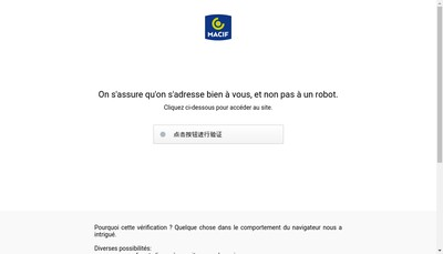 Site internet de MACIF