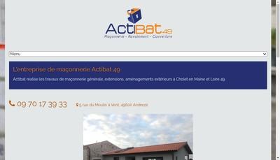 Site internet de Acti-Bat 49