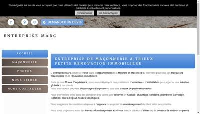 Site internet de Entreprise Marc
