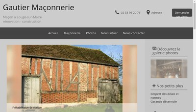 Site internet de Gautier Maconnerie