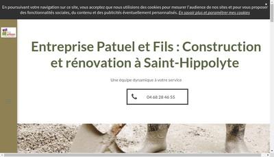 Site internet de Entreprise Patuel et Fils
