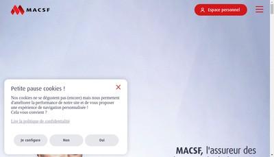 Site internet de Macsf Prevoyance