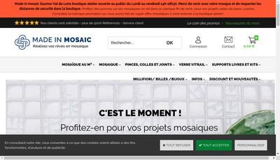 Site internet de Made In Mosaic