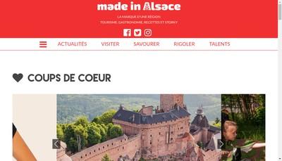 Site internet de Made In Alsace
