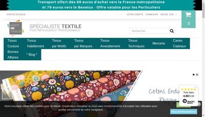 Site internet de Made In Tissus
