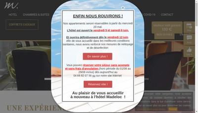 Site internet de Hotel Madeloc