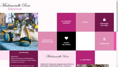 Site internet de Mademoiselle Rose Creation