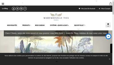 Site internet de Mademoiselle Tiss
