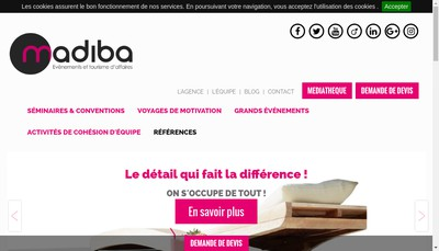 Site internet de Madiba Incentive