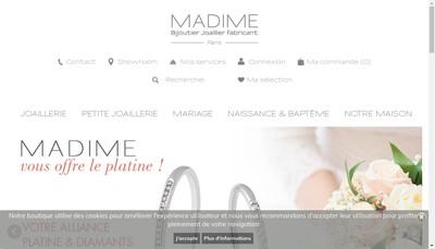 Site internet de Bijouterie Madima
