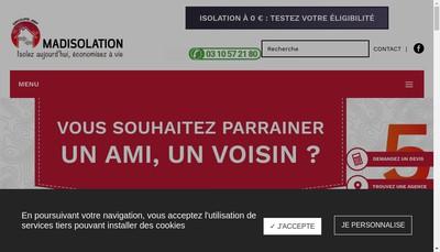 Site internet de Madisolation