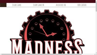 Site internet de Madness Escape Game