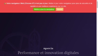 Site internet de Maecia