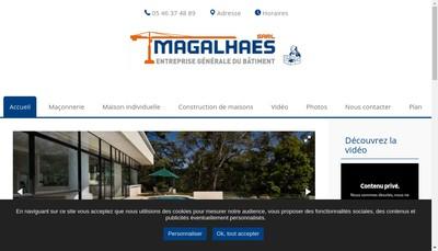 Site internet de SARL Magalhaes