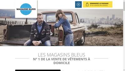 Site internet de Magasins Bleus