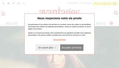 Site internet de Avantages