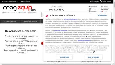 Site internet de Magequip