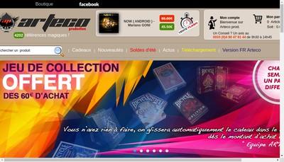 Site internet de Arteco Production