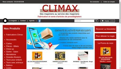 Site internet de Climax