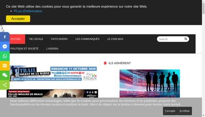 Site internet de Magjournal 77