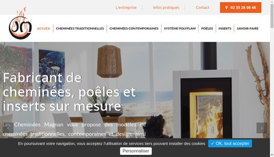 Site internet de Cheminees Jean Magnan et Ses Fils