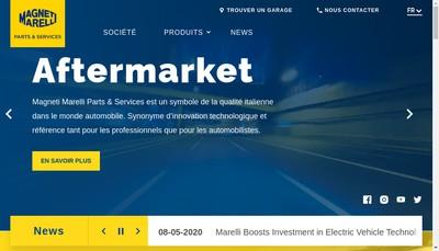 Site internet de Magneti Marelli France