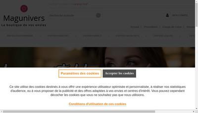 Site internet de www.magunivers.com