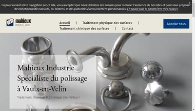 Site internet de Mahieux Industrie